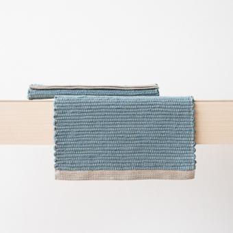 Tischset Platzdecke Platzset Leinen Stone blue, handgewebt,, LinenMe