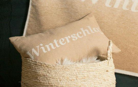 Kissenhülle Winterschlaf nuss 30 x 50, David Fussenegger
