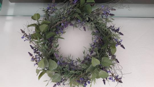 Kranz Lavendel Provence Türkranz Dekokranz Wandkranz 60 (30) cm Kunstblume