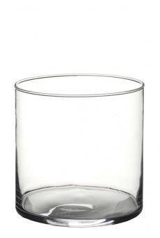 Vase Windlicht Zylinder 15 x 15 cm Glas edel schlicht