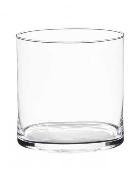 Vase Windlicht Zylinder 19 x 19 cm Glas edel schlicht