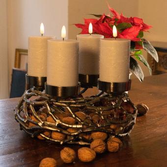 Kranz Äste 4 Kerzenhalter Adventkranz Winter Weihnachten Landhaus Werner Voß