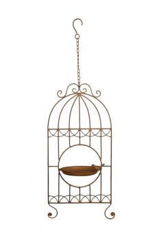 Vogeltränke zum Hängen Metall Handarbeit Landhaus Shabby Vintage