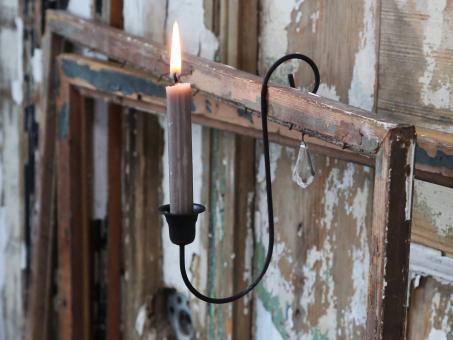 Altfranzösischer Kerzenleuchter mit Prisma zum Hängen