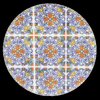 Untersetzer rund Ethno Orient Keramik, Clayre & Eef
