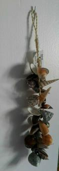 Muschelkette Muschel 25 cm Shabby Landhaus Nord Stil Deko maritim Landhaus maritim