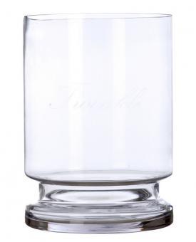Vase / Windlicht Glas Shabby  Blanc Mariclo Toskana