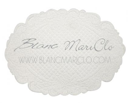 Tischset Quilt oval creme  Blanc Mariclo