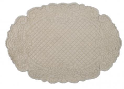 Tischset Quilt oval beige Blanc Mariclo