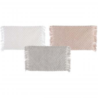 Badematte Badezimmerteppich Fransen von Blanc Mariclo in 3 Farben, 50 x 65