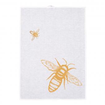 Geschirrtuch Biene Handsiebdruck, Halbleinen, hochwertig exquisit Fa. Frohstoff