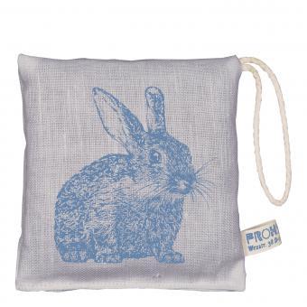Lavendelkissen Hase blau grau, Leinen exquisit edel, Frohstoff