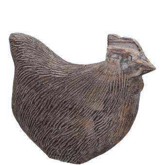 XL Huhn Blair natur 40 x 45 cm Holz Handarbeit, Landhaus Shabby Country