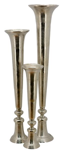 Gabi Schott Living Vase Xxl Bodenvase Aluminium Guss Silber 2 Grossen