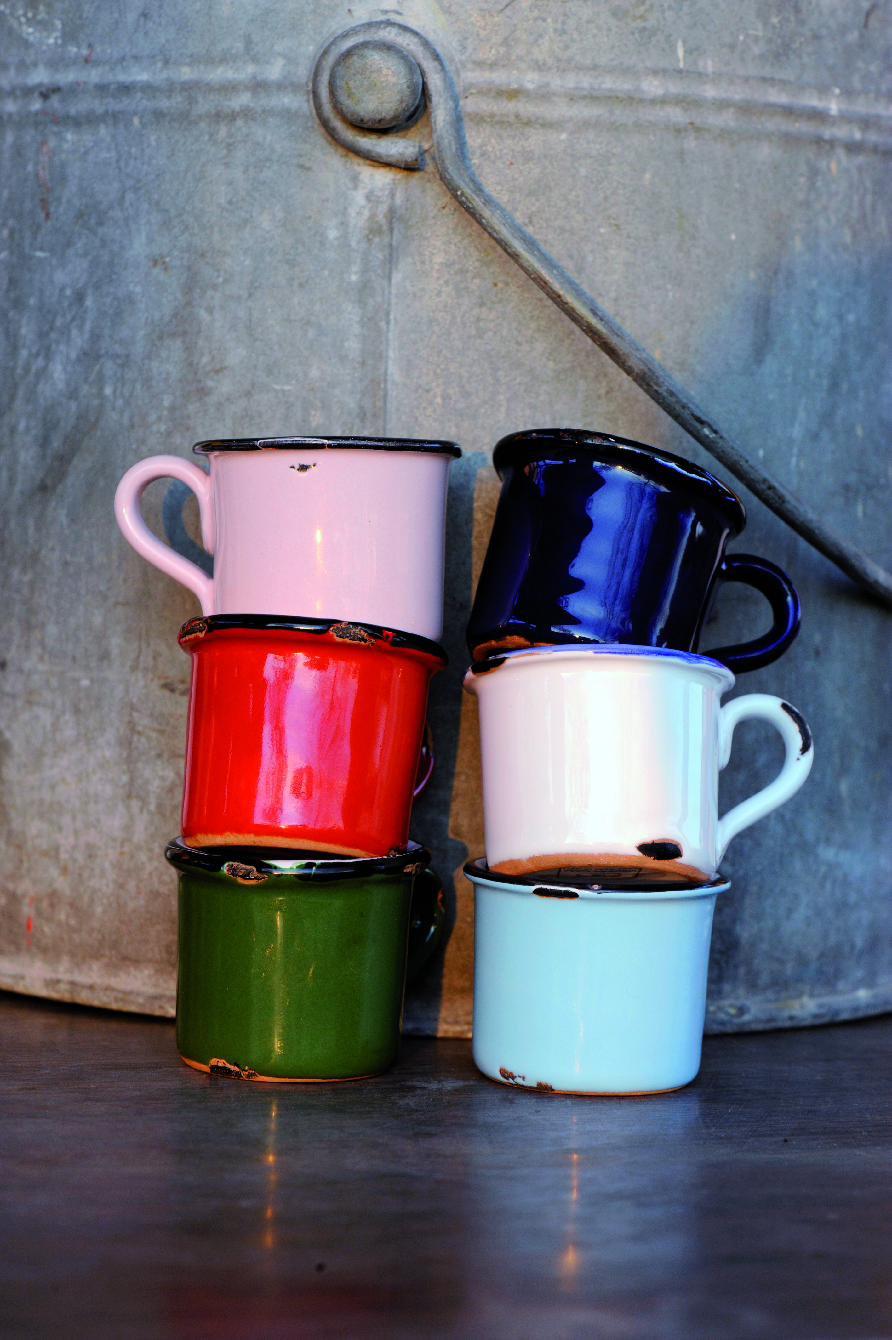 gabi schott living 6 espressotassen farbig italienische keramik handarbeit virginia casa. Black Bedroom Furniture Sets. Home Design Ideas